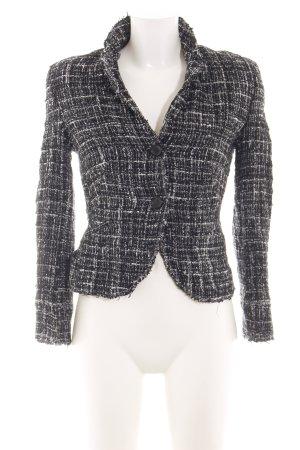 Windsor Kurz-Blazer schwarz-weiß meliert Casual-Look