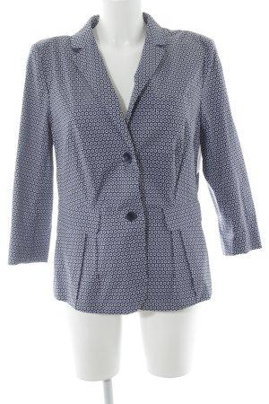 Windsor Kurz-Blazer dunkelblau-weiß grafisches Muster Business-Look