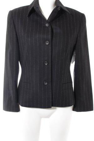 Windsor Blazer corto negro-gris raya diplomática estilo «business»