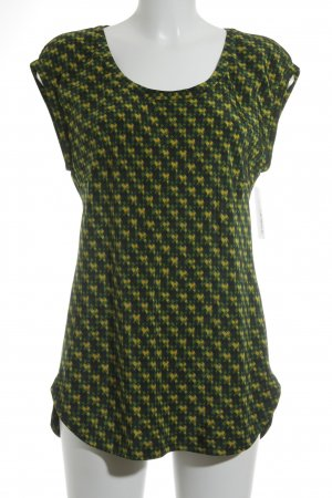Windsor Kurzarm-Bluse abstraktes Muster Casual-Look