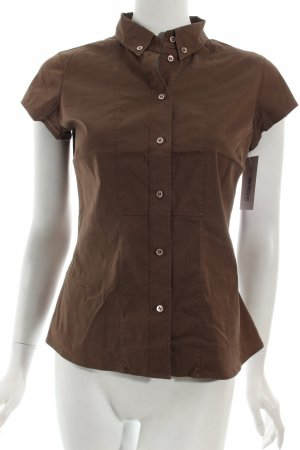 Windsor Kurzarm-Bluse braun Casual-Look