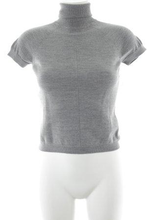 Windsor Sweater met korte mouwen lichtgrijs klassieke stijl