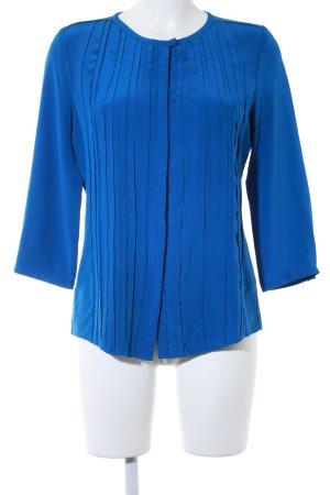Windsor Langarm-Bluse blau Business-Look