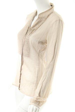 Windsor Langarm-Bluse hellbeige Casual-Look