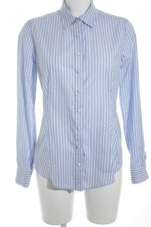 Windsor Langarm-Bluse weiß-hellblau Streifenmuster Casual-Look