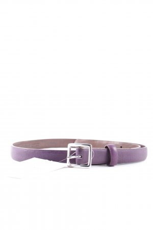 Windsor Ledergürtel dunkelviolett-silberfarben Casual-Look