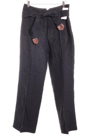 Windsor Leinenhose schwarz Casual-Look
