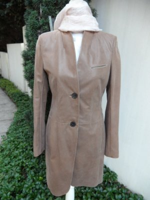 Windsor Leather Coat cognac-coloured leather