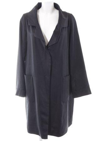 Windsor Oversized Mantel schwarz Casual-Look