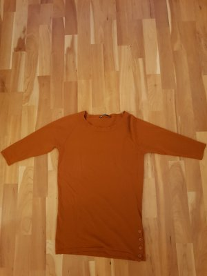 Windsor Pullover Wolle Terracottafarben