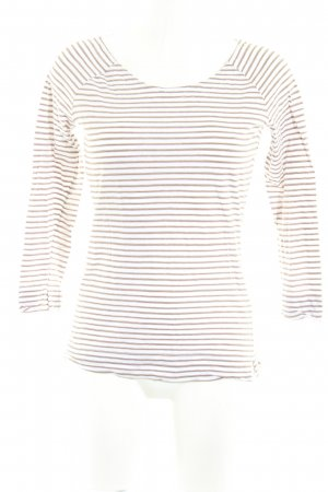 Windsor Maglietta a righe bianco sporco-marrone chiaro strisce orizzontali