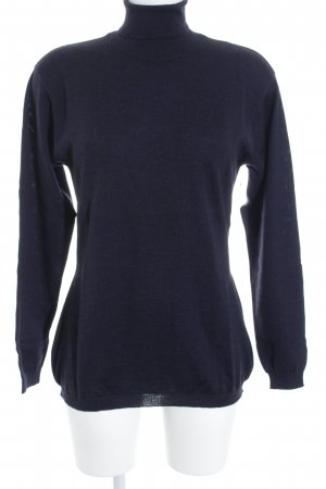 Windsor Rollkragenpullover dunkelblau minimalistischer Stil