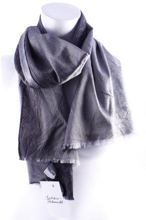 Windsor Silk Scarf dark grey-light grey color gradient elegant