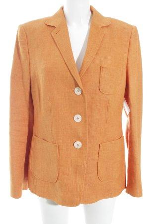 Windsor Sweatblazer orange Street-Fashion-Look