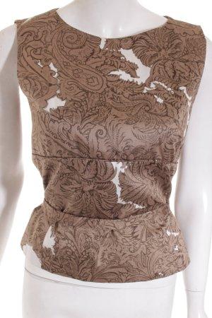 Windsor Top hellbraun-weiß florales Muster Casual-Look