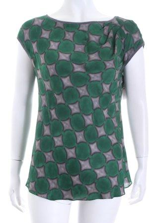 Windsor Tunika grau-waldgrün Business-Look