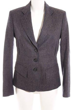 Windsor Tweed blazer donkerblauw gestippeld simpele stijl