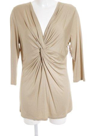 Windsor V-Ausschnitt-Shirt beige Romantik-Look