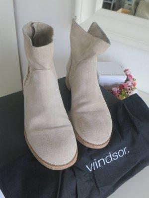 Windsor Botas de tobillo beige Gamuza