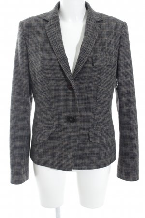 Windsor Woll-Blazer anthrazit-braun Hahnentrittmuster Casual-Look