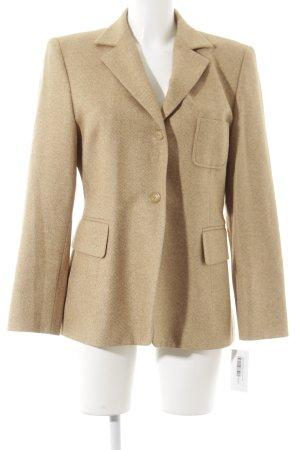 Windsor Woll-Blazer beige-blassgelb meliert Vintage-Look