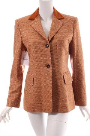 Windsor Woll-Blazer dunkelorange-wollweiß 70ies-Stil
