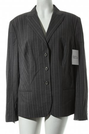 Windsor Woll-Blazer grau-weiß Streifenmuster Business-Look