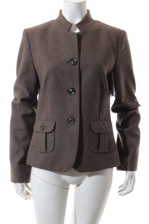 Windsor Woll-Blazer hellbraun-dunkelbraun Business-Look