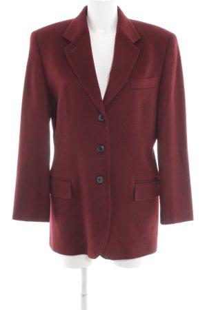 Windsor Blazer en laine rouge carmin style d'affaires