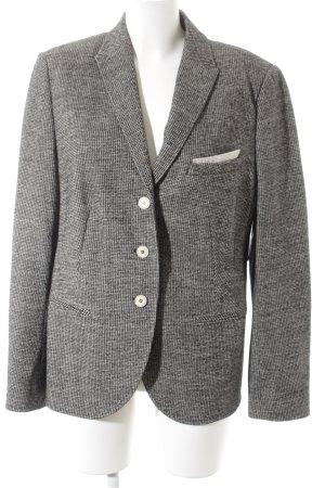 Windsor Woll-Blazer weiß-schwarz Pepitamuster klassischer Stil