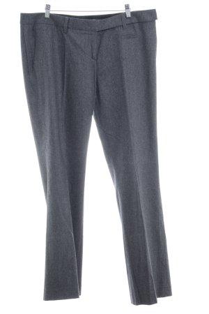 Windsor Pantalon en laine gris anthracite-gris moucheté style d'affaires