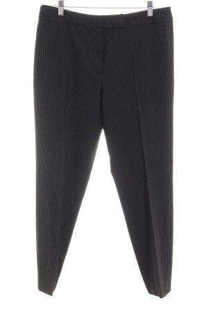 Windsor Pantalon en laine noir-blanc motif rayé style d'affaires