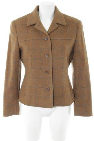 Windsor Wool Jacket light orange check pattern vintage look