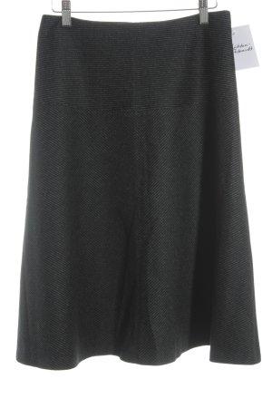 Windsor Wollrock schwarz-wollweiß Nadelstreifen Business-Look