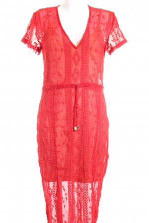 Winona Robe mi-longue rouge-rose chair style mode des rues