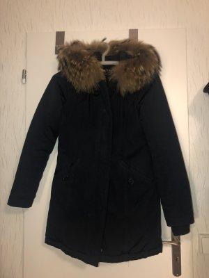 Attentif Manteau en duvet bleu foncé