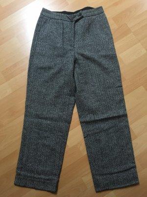 Pantalone a 3/4 nero-bianco