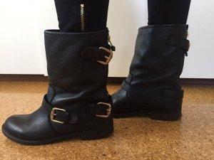 Winter- Boots in schwarz/grau