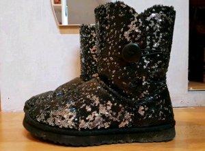 Winter Boots mit Pailletten