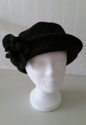 Woolen Hat dark grey-anthracite wool