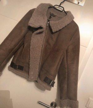 Zara Giacca bomber marrone-grigio