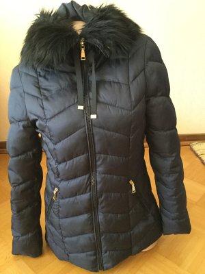 Tahari Winter Jacket dark blue polyester