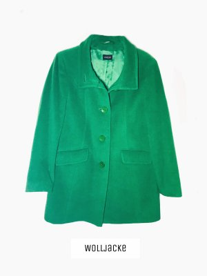Winter Jacke grün Schurwolle wolle Mantel Grasgrün auffällig Trendwende | basler | 40