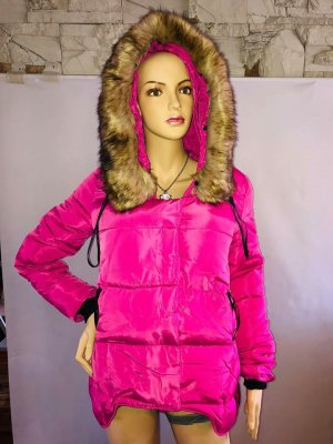 Winter Jacke Swarovski Kristalle grM Pink Neu