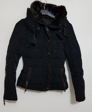 Zara Basic Doudoune noir-brun