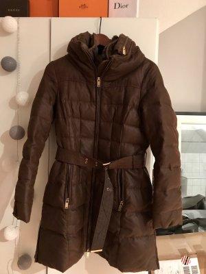 Zara Abrigo de invierno coñac-marrón