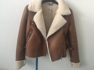 Bershka Winter Jacket brown