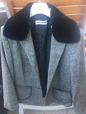 Gerry Weber Giacca di lana nero-grigio