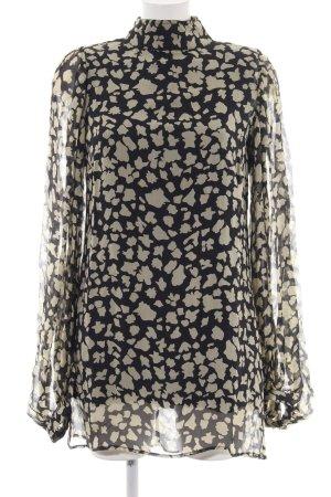 Winter kate Langarmkleid schwarz-wollweiß abstraktes Muster Elegant