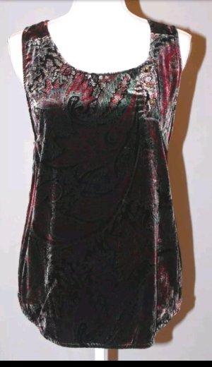 Winter kate Shirt Samt Seide vintage paisley Gr.M NP 220€